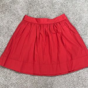 Banana Republic Red Summer Skirt Pockets 8